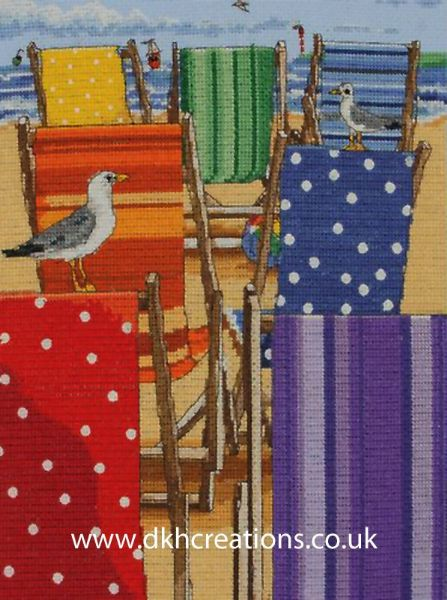 Rainbow Deckchairs Cross Stitch Kit